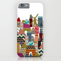 iPhone & iPod Case featuring geo town by Sharon Turner