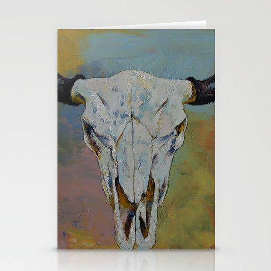 Bison Skull Stationery Card