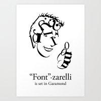'Font'-zarelli Art Print