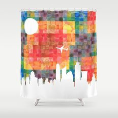 Goodbye Blue Sky Shower Curtain