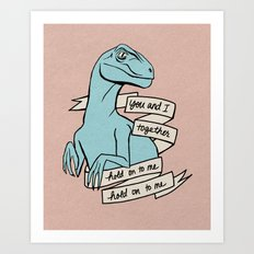 Blue raptor Art Print