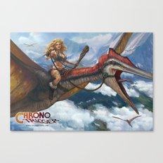 Ayla Dino Rider Canvas Print