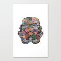 Stormtrooper Galaxy Canvas Print