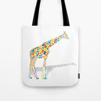Technicolor Giraffe Tote Bag