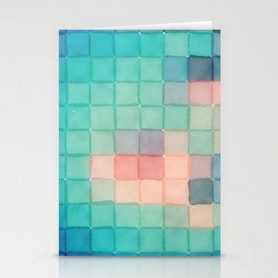 Polaroid Pixels VI (Crabapple) Stationery Card