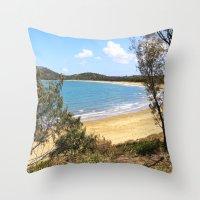 Idyllic tropical beach Throw Pillow