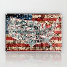 Usa Map Urban City Colla… Laptop & iPad Skin