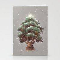 Reindeer Tree Stationery Cards