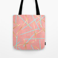 Golden Flamingo Tote Bag