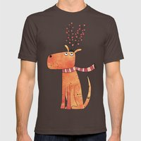 The Antler Hat Mens Fitted Tee Brown SMALL