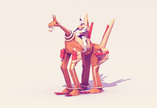 Creature + Rider Art Print