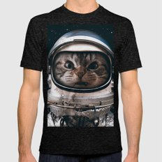 Space catet Mens Fitted Tee Tri-Black SMALL