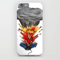 iPhone & iPod Case featuring Intense Gamer by Erich Aschenbrenner