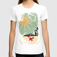 abstract T-shirts featuring Fox roaming around II by Yetiland