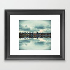 Stockholm Upside-down Framed Art Print