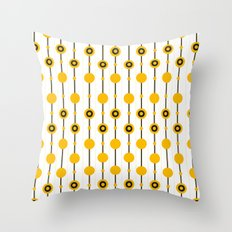70ies Gold Throw Pillow