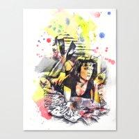 Uma Thurman From Pulp Fi… Canvas Print