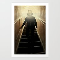 Stairway to the dark side _ vader descending  Art Print