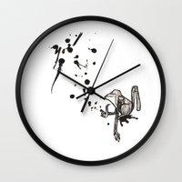 Pensive Primate. Wall Clock