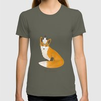 Be Brave - Fox Native Womens Fitted Tee Lieutenant SMALL