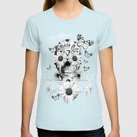 Dreaming of daisies Womens Fitted Tee Light Blue SMALL