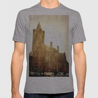 Church Time! Mens Fitted Tee Athletic Grey SMALL