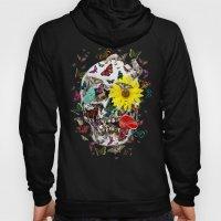 Skull Flowers Animals on MINT | Butterflies Hoody