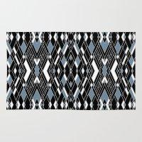 Art Deco Blue Rug