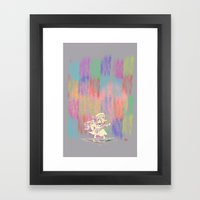 MAMA OUDA WHEN IT RAINed Framed Art Print