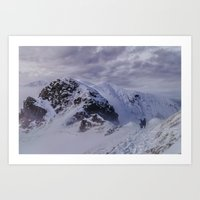 Hiking On Top Of The Wor… Art Print