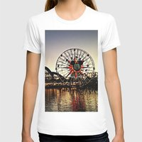 Disneymagic! Womens Fitted Tee White SMALL