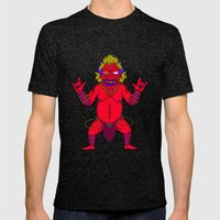 Fat Demon Mens Fitted Tee Tri-Black SMALL