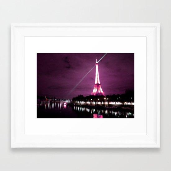Paris in oil Framed Art Print