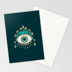 Teal Eye Stationery Cards