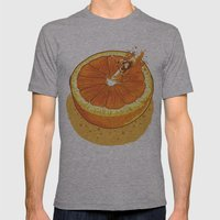 Rapid Orange Mens Fitted Tee Athletic Grey SMALL