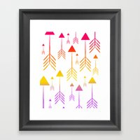 Always on the Rise (summer arrows) Framed Art Print