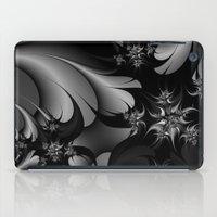 Black and White Fractal 10 iPad Case