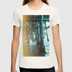 Under the Pier.  Womens Fitted Tee Natural SMALL