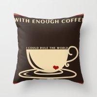 Productive Monday  Morning Throw Pillow