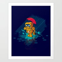 TINY ROBOT Art Print