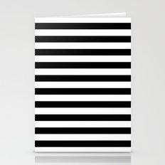 Modern Black White Stripes Monochrome Pattern Stationery Cards