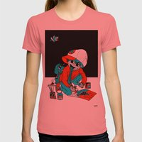 SHIT ART TRIP. Womens Fitted Tee Pomegranate SMALL