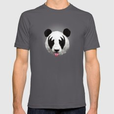 Kiss Of A Panda Mens Fitted Tee Asphalt SMALL