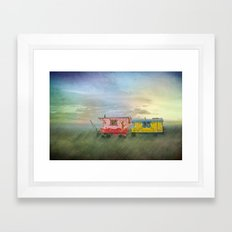 gypsy caravans Framed Art Print