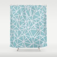 Ab Outline Salt Water Shower Curtain