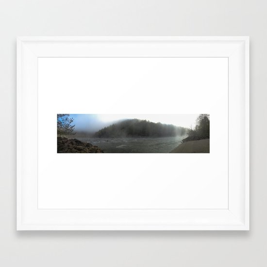 Fog on the River Framed Art Print