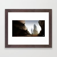 Landscape Experiment Framed Art Print