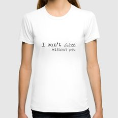 I just Womens Fitted Tee White SMALL