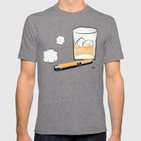 Cigar And Booze Mens Fitted Tee Tri-Grey SMALL