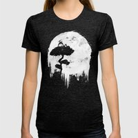 Midnight Spirits Womens Fitted Tee Tri-Black SMALL